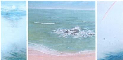 「海景-かいけい-」 日本画 1999年